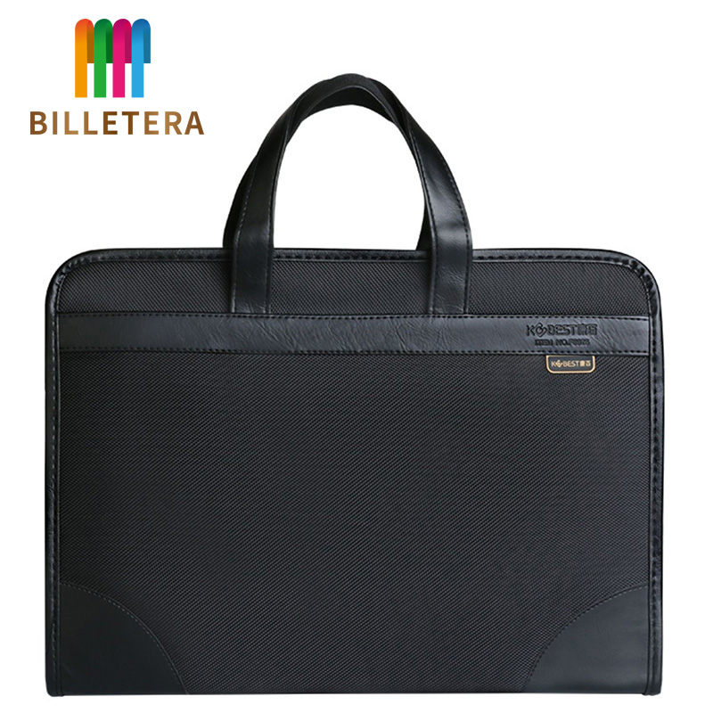 BILLETERA Document Bag Canvas Office Men's Tote Bag Business Multi-Layer Oxford Briefcase Female Simple Information Package