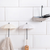 3 pçs/lote Multifuncionais Cabide Rack de Guarda chuva Em Forma de Chave Titular Ganchos De Parede Decorativos Para Casa Acessórios Do Banheiro Da Cozinha Gadget Ganchos e trilhos Casa e Jardim -