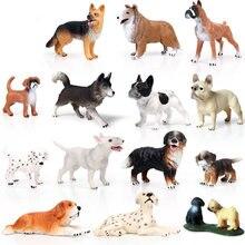 41 tipos tamanho pequeno cão série animais figura collectible brinquedos cão animal figuras de ação crianças brinquedos de plástico