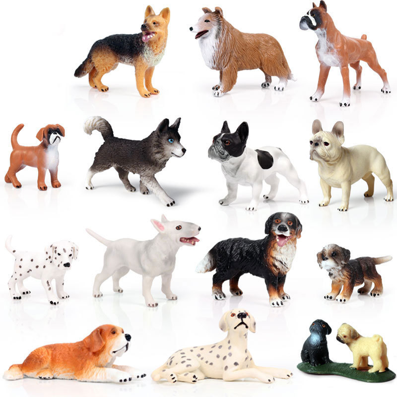 41 Kinds Small Size Dog Series Animals Figure Collectible Toys Dog Animal Action Figures Kids Plastic Toys image