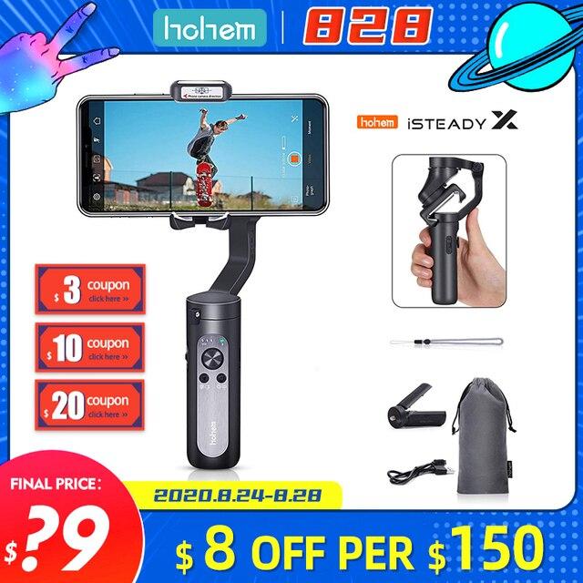 Hohem iSteady X 3 Axis Handheld Gimbalโทรศัพท์สมาร์ทโฟนStabilizerสำหรับiPhone X GoPro 6 7 PK Smooth 4 DJI OSMO MOBILE 2