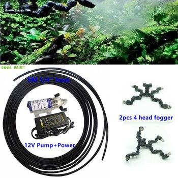 S046 Total 10pcs slip lock nozzles mister rainfall atomization system for moss climbing pet reptile fogger set
