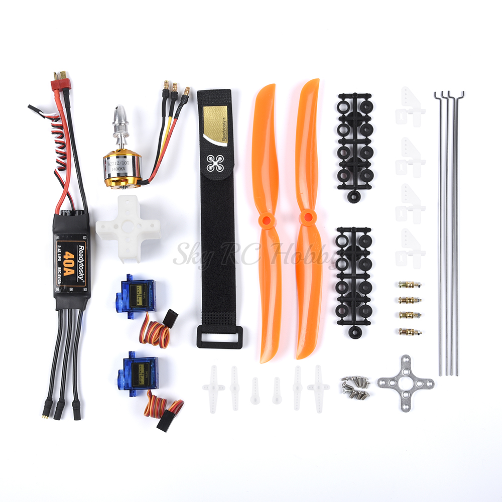A2212 2212 1400KV Brushless Motor + 30A / 40A ESC + SG90 Servo 8060 Propeller + Push Rod / Servo Angle Adjuster For RC Wing SU27