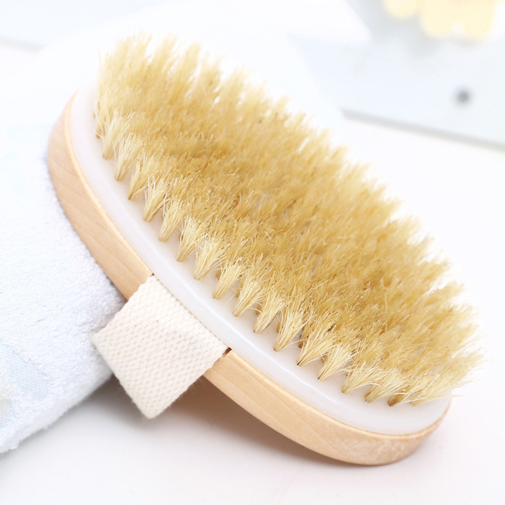 Hot Dry Skin Body Soft natural bristle the SPA the Brush without Handle Wooden Bath Shower Bristle Brush SPA Body Brush