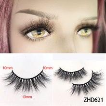 3D Mink Eyelashesบาง100% HandMade Full Strip Lashโหดร้ายฟรีMink Lashesขนตาปลอมแต่งหน้าทุกวัน