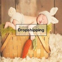 Одежда для новорожденных; вязаный крючком костюм для девочек и мальчиков; аксессуары для фотосессии; Детские шапки с кроликом; шапки; roupa de bebe