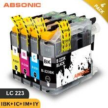 Absonic 4PK LC223 LC221 LC 223 картриджи для принтеров Brother картридж DCP-J562DW J4120DW MFC-J480DW J680DW J880DW J5320DW