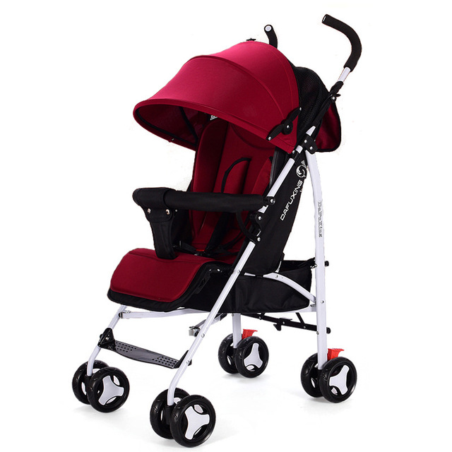 Foldable Baby Stroller Ultra-lightweight High Landscape Folding Carriage Gold Newborn