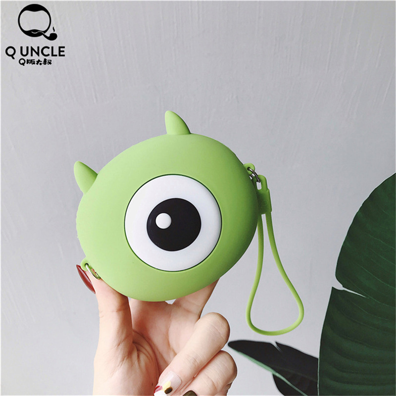Q UNCLE Fashion Girls Mini Purse Cartoon Big Eye Kawaii Wallet Beautiful Funny Silica Gel Zipper Kids Pouch Women Crossbody Bags