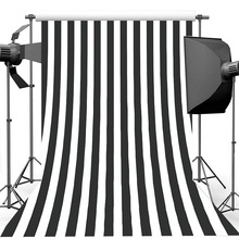 Thin vinyl Black and White Stripes Background for Photography Birthday Wedding Photography Backdrops For Photo Studio
