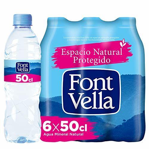 FONTVELLA BOTTLE PLASTIC X6 500ML MINERAL WATER NON FLAVOURED