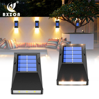 LED Solar Light Outdoor Lighting Wall Lamp Lights Up Automatically At Night Wireless Waterproof Installation for Courtyard