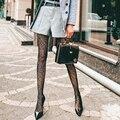 Колготки в сеточку сексуальные, до бедра, сетчатые колготки, сетчатые колготки, длинные носки, чулки с принтом, основа, женские модные колгот...