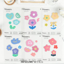 30 Pcs/set Kawaii Bunga Planner Sticker Cute Sticky Notes Kawaiii Memo Pad Sekolah Alat Tulis Stiker untuk Catatan Lucu Posting(China)