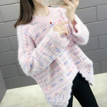 Casual O-Neck Knitted Pullovers Sweater Women 2019 Autumn Winter Loose Long Sleeve Sweaters Femme Tricot Pullover Jumpers цена 2017