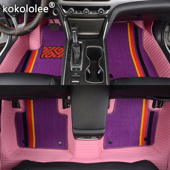 kokololee Custom Car Floor Mats for Porsche Cayman Macan panamera Cayenne Boxster 718 911 Double foot mats car accessories style