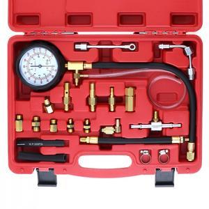 Image 3 - TU 114 0 140PSI / 0 10 Bar Tragbare Compression Kraftstoff Injektion Druck Auto Auto Diagnose Tester Tools Kit mit Sicherheit ventil