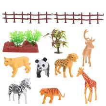 1 Set of Simulation Animal Models Decorative Animal Figurine Sand Table Ornament