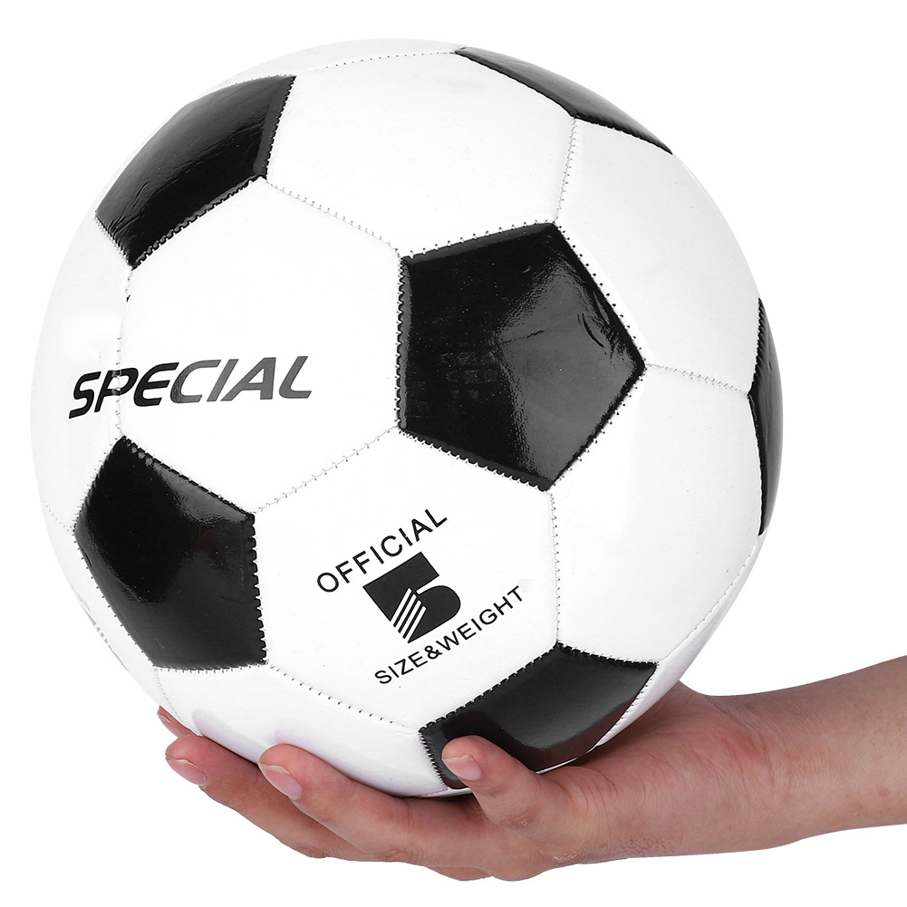 PVC Classic Size 5 Black White Football PVC Soccer Balls Goal Team Match Training Balls Student Team Training Children Match