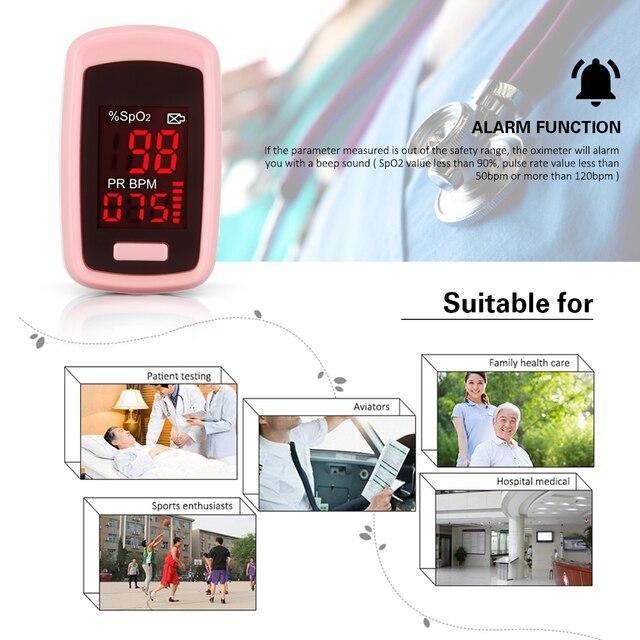 OLIECO Finger Pulse Oximeter PR SpO2 Meter Accurate Blood Oxygen Saturation De Dedo Pulso Oximetro Home family Pulse Oxymeter 1