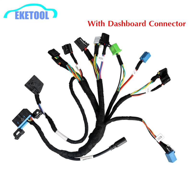 Works For BENZ EIS/ESL Cable + MOE001 Dashboard Connector 5 IN 1 Full Set BENZ Cable Work With VVDI MB BGA Tool Free Shipping