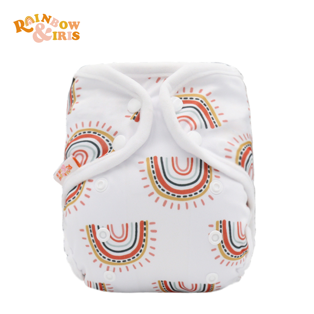 Rainbo&Iris Cute Fashion Cloth Diaper Cover With Rainbow Print Baby Gift Accessory