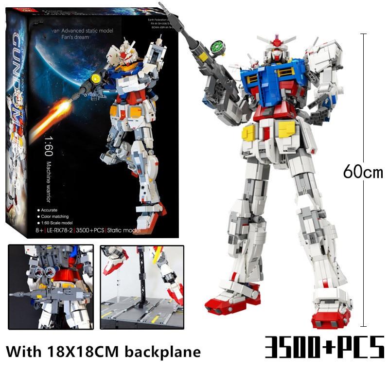 3500 шт Супер 18k фигурки роботов RX78 2 механический первобытный воин мех классическая модель Кирпичи Строительные блоки игрушки