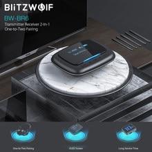 BlitzWolf-receptor y transmisor de Audio 2 en 1 con pantalla OLED, bluetooth V5.0, 3,5mm, Aux, 2RCA, adaptador de sonido inalámbrico