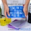 24-hole силиконовый ледяной ящик 5 цветов квадратный мягкий многофункциональный пищевой коробка желе с крышкой кухонная форма инструмент