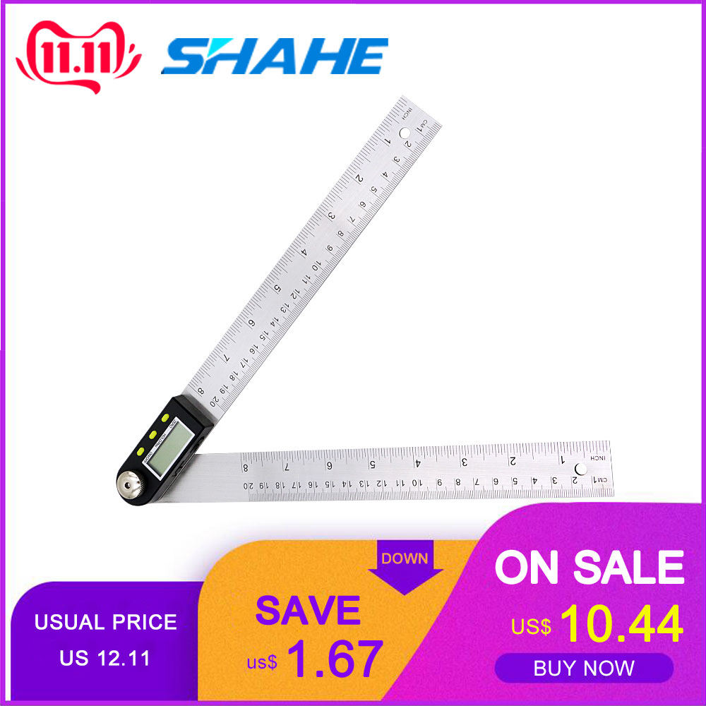 200mm 8'' Digital Protractor Inclinometer  Electronic Angle Ruler Goniometer Measurements Stainless Steel Angle Ruler