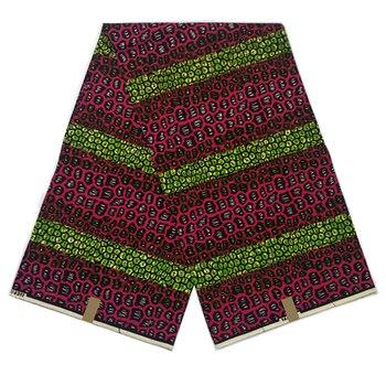 Nigerian wax printed fabric High quality 100% cotton 6yards hot sale dutch wax dye block printed fabrics African style for Dress