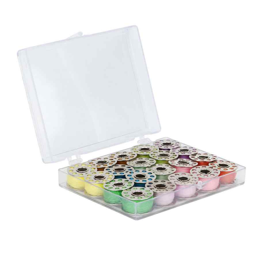 20Pcs Bobbins and Sewing Thread with Case for Sewing Machine