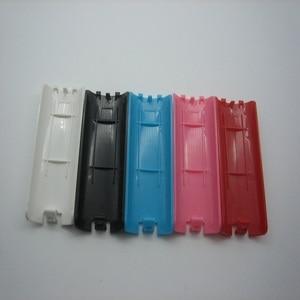 Image 2 - 100 개/몫 5 색 배터리 커버 케이스 배터리 백 도어 쉘 커버 wii 리모컨