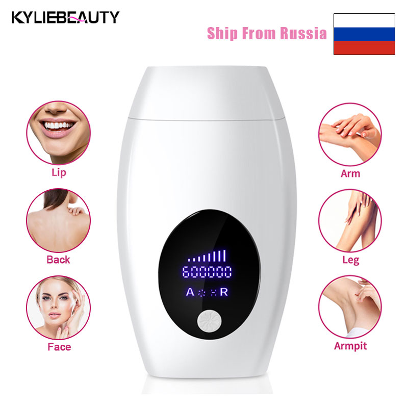 Professional Permanent IPL Laser Depilator 600000 Flash LCD Laser Hair Removal Photoepilator Women Painless Hair Remover Machine