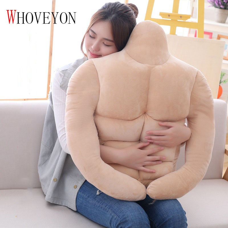 Boyfriend Arm Shape Pillow Muscle Male Plush Pillow Cushion Pillow Female Creative Birthday Valentine Gift Pillow Fun Pillow