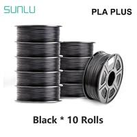 Filamento SUNLU PLA PLUS filamento 10KG stampante 3D film pla 10 pezzi 5 pezzi 1KG un rotolo 1.75MM -/0.02MM filamento estrusore penna 3D