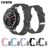 FIFATA-pulsera de lona de nailon para Huami Amazfit t-rex A1918, correas de reloj para Xiaomi Amazfit Ares A1908, accesorios