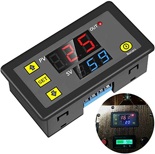 Timer Relay DC 12V 20A Programmable Digital Time Cycle Delay Switch Module 1500W 220V 110V ON-OFF Control 0-999 Second Min Hour