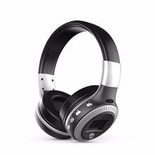 Bluetooth Headphones LCD Display Wireless Stereo Headsets Headphone With Mic Micro-SD Card Slot FM Radio For Phone & PC(China)