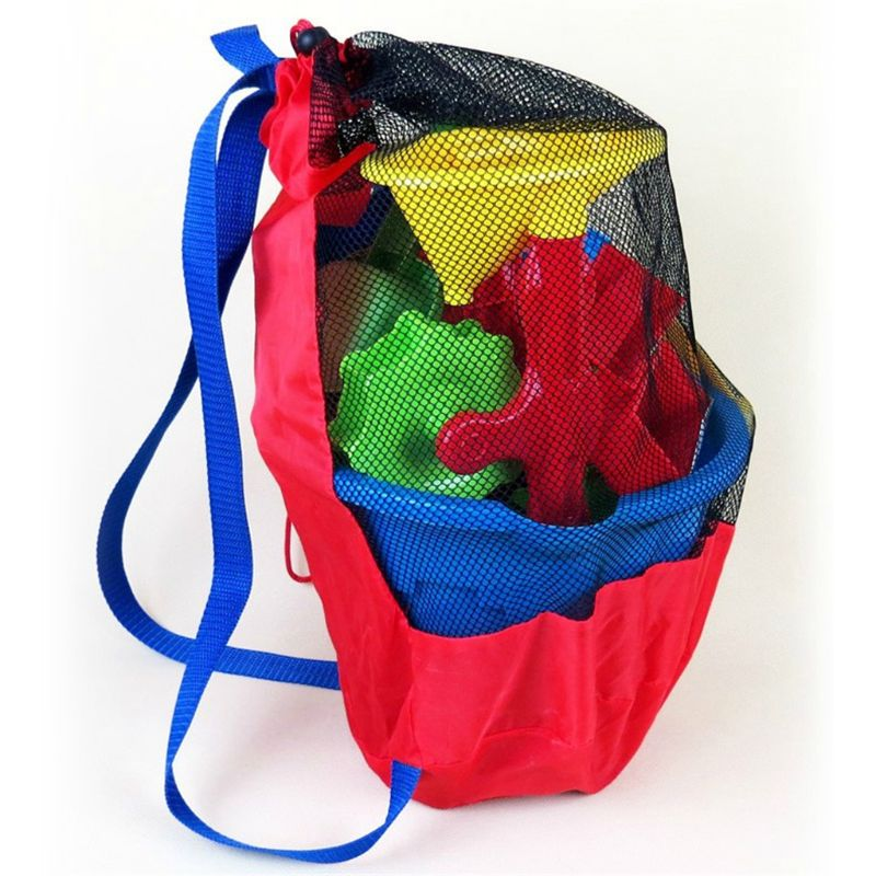 Toy Storage Mesh Bag For Kids Beach Sand Toys Water Fun Sports Bathroom Clothes Towels Backpacks Gift Y51E