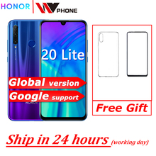 Original Honor 20i honor 20 lite Mobile Phone 6.21 inch Android 9.0 FM Face Fing