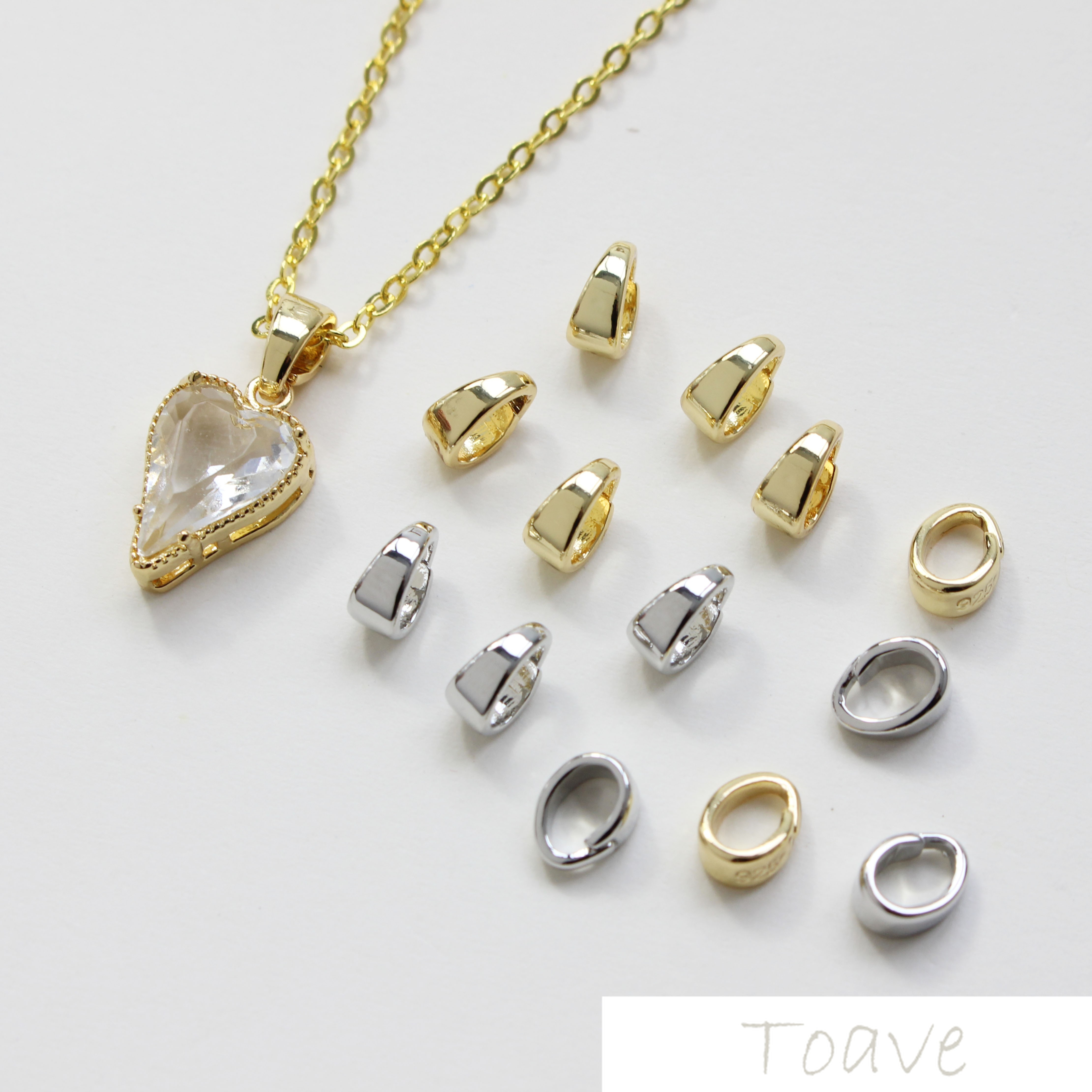 Small Delicacy Copper Plated 18K Real Gold Color Oval Buckle Necklace Bracelets Base Accessories