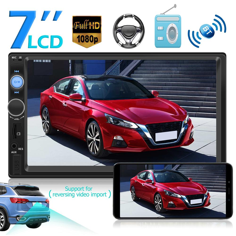 <font><b>7010B</b></font> <font><b>2</b></font> <font><b>DIN</b></font> Car Stereo MP5 Player Bluetooth AUX USB TF FM Radio Autoradio 2Din Interconnection Media image