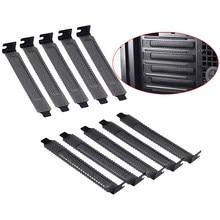 Filtro de polvo de acero duro negro, 10 unids/lote, placa de bloqueo, cubierta de ranura PCI, novedad