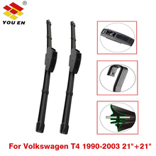 YOUEN Wiper Blade For Volkswagen VW T4 Transporter 1990-2003 21+21, 2Pcs Natural Rubber Windscreen Wipers Auto Car Accessories