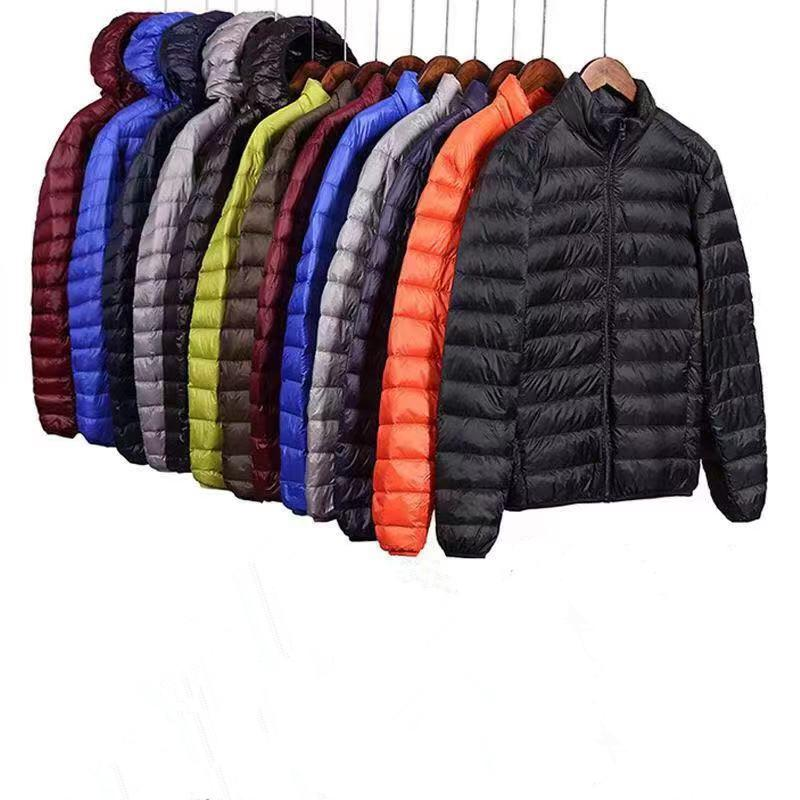 Eiderdown Cotton Jacket Men Brand Winter Warm Coat Mens Thick Hooded Ultralight Casual Parkas Male Fashion Cotton Padded Jackets