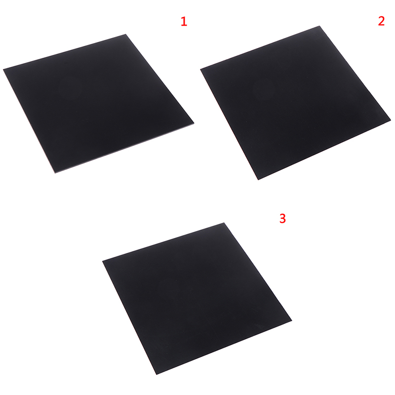 1pc 1mm Thickness ABS Styrene Plastic Flat Sheet Plate 200mm X 300mm Black For Industry Tools