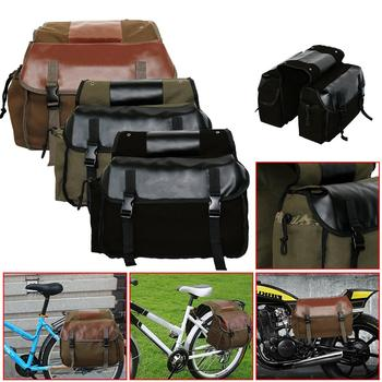 Universal Motorcycle Bag Leather Saddle Bags Waterproof Side Tool Bag Motorbike Tail Bag Luggage Bag Black/Khaki/Gray osah drypak motorcycle waterproof tail bags multi functional durable rear motorcycle seat bag high capacity waterproof pvc bag