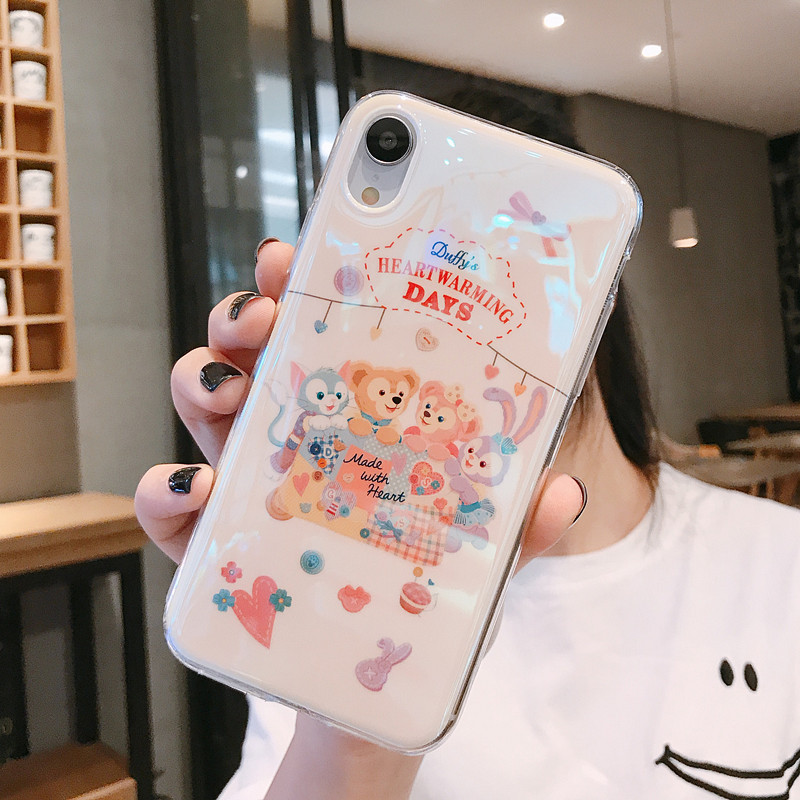 Duffy Bear <font><b>Ballet</b></font> Rabbit Shalimar Soft Silicon <font><b>Cases</b></font> For <font><b>iphone</b></font> 11 Pro XS MAX XXR 6 6S 7 8plus Blu-ray Shiny Cartoon Phone Cover image