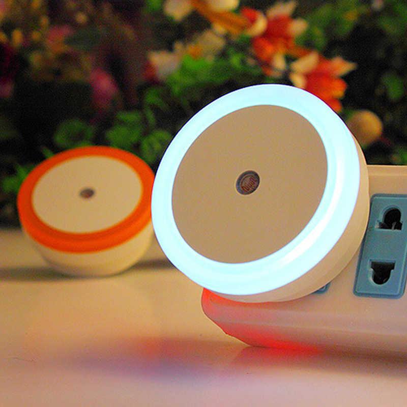 HUXUAN EU EE. UU. Enchufe redondo Sensor de movimiento lámpara de noche para niños inalámbrico SensorWall lámpara gabinete escaleras LED Sensor de luz